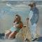 Echtpaar aan strand - verkocht